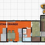 Orange Apartment Plan